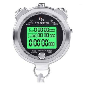 YS Stop Watwatch Metal StopWatch Timer مع الذاكرة الخلفية متعددة اللفة الرقمية للمدربين 1