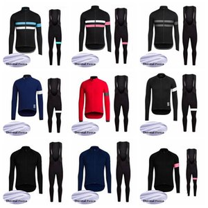 RAPHA Cycling Winter Thermal Fleece jersey bib pants sets Cycling jersey suit Men's bicycle windproof wearable bike clothes 102816