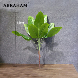 82cm Large Artificial Plants Tropical Banana Trees Palm Leaves Fake Plant Branch Plastic Green Leaf Home Party Jungle Decoration 1029