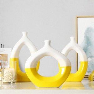 Nordic geométrica de cerámica Artesanía Decoración de la sala de TV del gabinete Modelo habitación del hotel Furnishingsmodern la decoración del hogar Accesorios ZjkW #