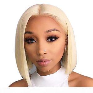 13x6 Blonde Lace Front Wig Brazilian 613 Short Bob Lace Front Human Hair Wigs For Black Women Transparent Lace Front Wig