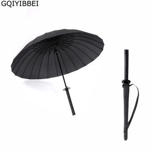 Gqiibbei творческий длинный ручкой большой ветрозащитный самурайский меч зонтик японский ниндзя, как солнце дождь прямой зонтик ручной открытый y200324
