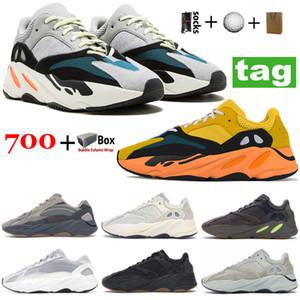 Best Quality 700 kanye runner Reflective mens running shoes V1 Solid Grey Sun Carbon Blue Inertia V2 Tephra Vanta Sport sneakers with box