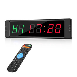Programable Remote control LED Interval garage sports training clock crossfit gym Timer 1008