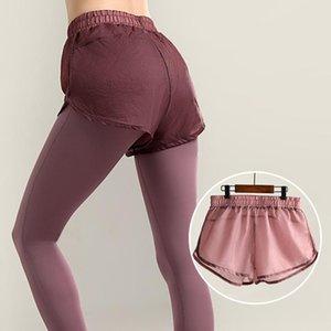 Беговые штаны 20 стиль дышащая марля анти-неловкие йоги шорты повседневная спортивная женщина быстрый фитнес