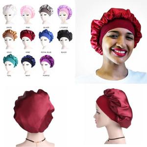 11Colors Muslim Wide Stretch Silk Satin Breathable Bandana Night Sleeping Turban Hat headwrap Bonnet chemo cap Hair Accessories