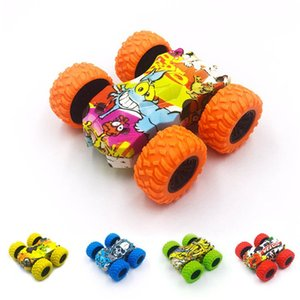 Inertia Double-sided Stunt Car Friction Powered Fall-resistant Tumbling Crawle Off-road Vehicle Rotate 360 Degrees Car Toys