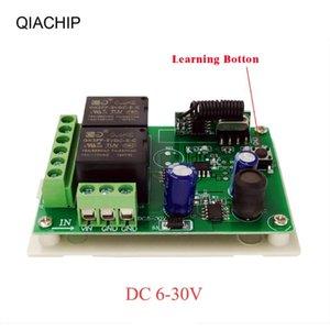 QIACHIP 433MHz DC 6V 12V 24V 2CH RF Relay Empfängermodul Universal Wireless Fernbedienung für Garagentor Opener Controller