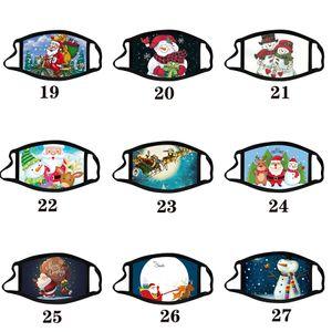 Natal adulto Calico Máscara Máscara anti-fog lavável máscaras de algodão cor de Natal cara de desenho animado máscara projeto do partido Máscaras moda máscaras macio
