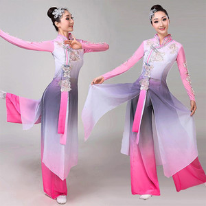 Performance Costumes Chinese Folk Dance Dress Dance Costume Female Elegant Yangko Clothes Fairy Dress Stage Costume Women