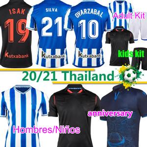 Real Sociedad 2020 21 Anniversaire Oyarzabal X Prieto Portuu Soccer Jerseys David Silva Barrenetxea Camiseta de futbol Chemises de football Hombres