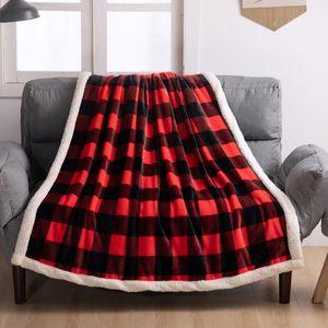 SICAK Ekose Çocuk Fannel Çekyat kaplamaları 130 * 150cm Sleeping Izgara Battaniye atmak Wrap Kalın çocuklar için Soft Fannel battaniye Isınma battaniye