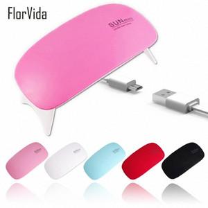 6W Mini LED UV Lamp USB Plug Mouse Type Pink Black White Red Sky Blue Foldable Lamp For UV Gel Polish Nail Dryer Machine Wudv#