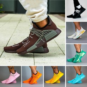 Fashion Extra eye hu pharrell williams nmd human sex men run shoes chocolate dash green solar pack النساء الرجال المدربين أحذية رياضية 36-47