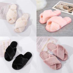 JQQT4 Jianbudan плоский плюшевый теплый домашний крест плюшевые тапочки легкие мягкие удобные зимние тапочки обувь обезьяна тапочка