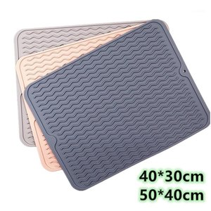 Large Multifuctional Silicone Drying Mats Heat Insulation Pot Holder Protector Dish Cups Draining Mat Pad Table Placemat Tray1