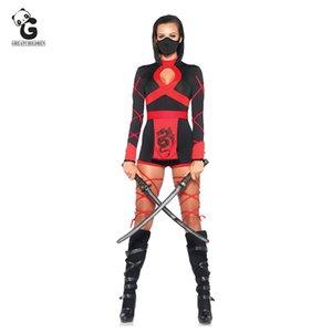 Costumi Cosplay Ninja del Anime di Halloween per le donne sexy adulto vestito Superhero Ninjago Costume