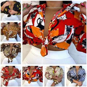 Мода женская блузка полная буква печати футболка модный дизайн Camicia блузки с длинным рукавом рубашки весной летняя топ одежда 9 стилей
