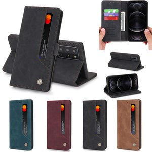 It is suitable for Samsung S21 ultra imitation leather S30 Plus + strong magnetic absorption fashion A42 leather case