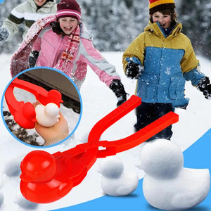 Plastik Schneeball Maker Clip Sicherheit Cartoon Ente Winter Schnee Sand Mold Werkzeug Für Schneeball Kampf Outdoor Fun Sport Toys DWD4373