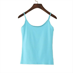 Tank Top Women Summer Casual Camisoles Womens Tops T shirt Spaghetti Strap Cropped Vest Female Camis Fashion Synthetic Cotton