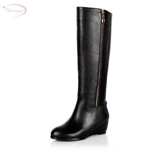 Chainingyee qualidade artesanal personalizado contratado sexy joelho de couro alto botas alta zíperes med com botas de equitação feminina1