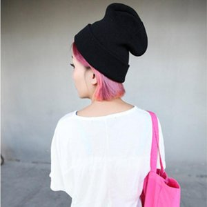 CWLSP Autumn&Winter New Women Knitted Beanies 15 Colors Available 2020 Hot Sale Fashion Street Wind Cozy Elasticity Caps&Hats