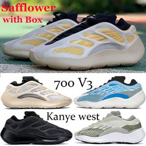 New Safflower 700 V3 Runner Kanye West Laufschuhe Azareth Azael Alvah OG Reflective Glow In The Dark Frauen der Männer Basketball Turnschuhe