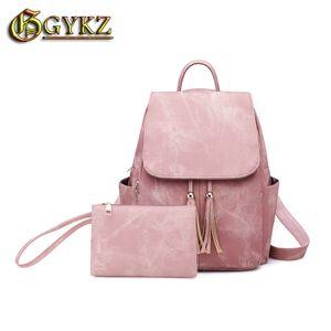 Gykz Women Backpacks Anti Theft Lady's Small School Cute Kawaii Tassel Fashion Korea High Quality Cheap Give New Handbags 201013