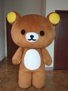 Costume Mascot Rilakkuma Costume Brown Brown Net Red Douyin Flyer Performance pour adultes Performance Cos Props Personnalisé