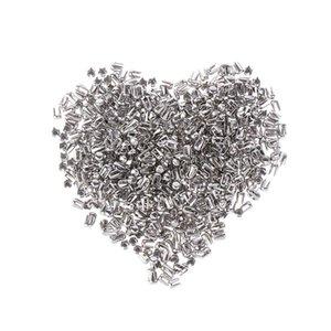 500pcs Silve Spikes Rivetti Four Claw Nail Metal FAI DA TE per abbigliamento Garment Perline Accessori per perline