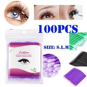 100Pcs Disposable Mascara Wands Materials Tooth Applicators Lip Eyelash Disposable Mascara Wands Cotton Swab For Eyelash