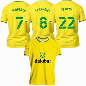 2020 2021 Норвич Сити футбол Джерси пукки мутного VRANCICI ROBERTS 20 21 домой футбол рубашка S-2XL