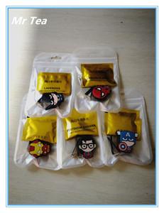 MR TEA 5pcs set Automobile Car Vent Air Freshener Perfum Clip For Super Hero Figure Auto Interior Decoration Accessori