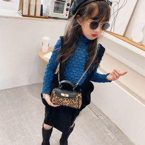 Free DHL New INS PU Quality Fashions Designs Kids Girls Purse Leopard Plaid Handbag Mother And Me Children School One-shoulder Bags