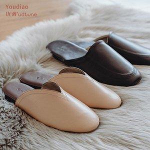 YouDiao Mules Sheep-Skin morbido pelle vera pelle Pantofole da casa Donne da donna Scarpe da donna TPR Suola antiscivolo da uomo Scarpe da ufficio