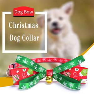 Noel Pet Yaka Dokuma Bow Knot Altın Gümüş Bell Bow Tie Kedi Yaka Pet Toptan Malzemeleri