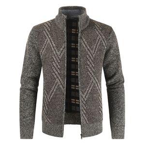 Negizber 2019 Outono Inverno Mens Casual Stand Collar grosso Cardigan Moda Quente Camisola Casacos Homens C1031