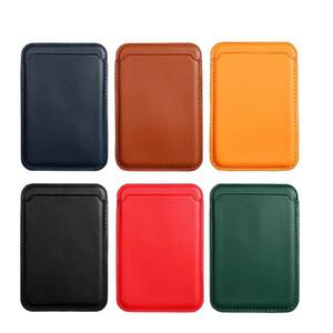 محفظة جلدية محفظة بطاقة الائتمان جيب الهوية بطاقة الائتمان حامل بطاقة الائتمان الحقيبة آيفون 12 ميني برو ماكس دعم magsafe