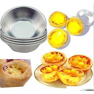 Uova crostata stampo 7cm pasteis de nata forno cuocere rotondo crema pasticcera torta torta cupcake riso di jllrum homeindustry