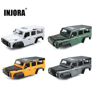 Injora Hartkunststoff 313mm 12.3in Radstand D110 Verteidiger Körperhülle für 1/10 RC RAWLER Auto Traxxas TRX4 Axial SCX10 90046 201104