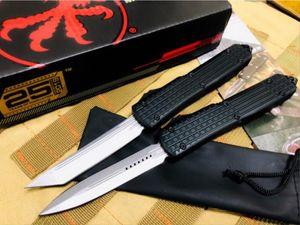 최신 Microtech UT CNC 자동 자동 칼 D2 블레이드 알루미늄 합금 핸들 캠핑 사냥 칼 야외 EDC 도구 수집