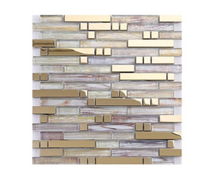 2021 hot sale Factory direct sales TV background wall glass mosaic tile laminated glass mosaic wholesale