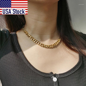 Cuban Link Chain 3 To 11MM Choker Anti Allergy Stainless Steel Necklace for Women Girls Minimalist Jewelry 16inch Dropshipping1