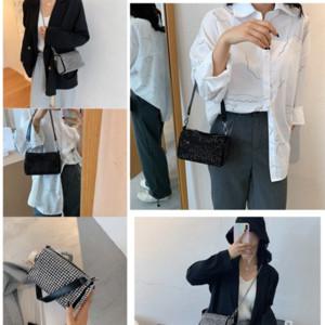 8814t mini mulheres totes moda retro coreano bolsa de ombro com fechadura de couro genuíno moda prata sacos de couro genuíno bolsa de gato