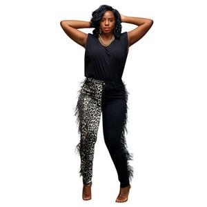 Pants Leopard Impresso mulheres casuais com Tassel Designer Ladies Capris Moda Painéis magro Womens Roupa Quente