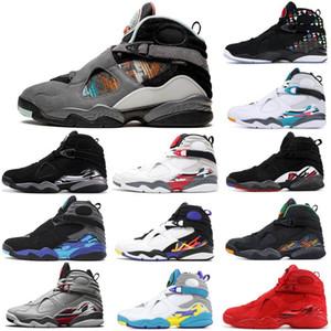 2021 New Mens basketball shoes 8s Multi Color Snowflake Aqua South Beach Three Peat Tinker Chrome Jumpman 8 men trainers sports sneakers