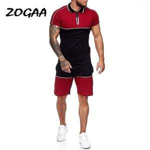 Chándal de los hombres Zogaa Sets Hombres Hombres Menores Surment Sports Traje Slim Casual Moda Sportswear Patchwork Traje de Sweatsuit Mens Sweats Tamaño CH