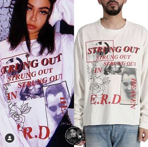 ERD casuale oversize Long Sleeve Tee T-shirts Enfants Riches priva afflitto annata Graphic donne degli uomini di Hip Hop Streetwear