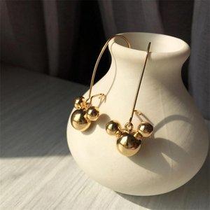 Dangle & Chandelier Fashion Children's Cartoon Mouse Head Pendant Earrings Women Jewelry Boucle D'oreille Femme Metal Gold Color Binrcos